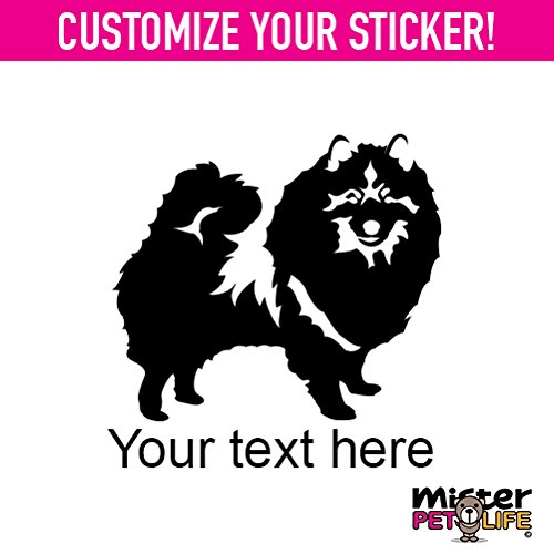 Personalized Keeshond Sticker Vinyl Chose Color Custom Made by Mister Petlife kees Black