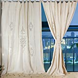 Crochet Curtains OurWarm Cotton Shower Curtain Linen Crochet Curtain Panel Blackout Curtain 70 x 70 Inch