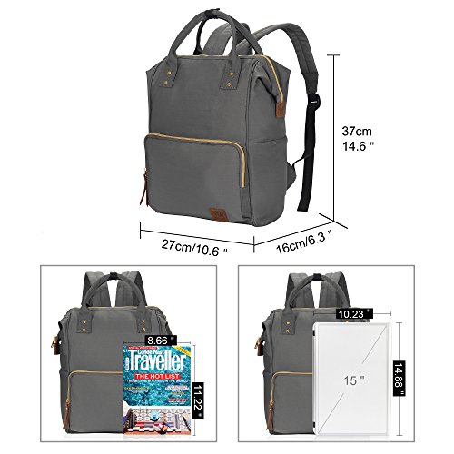 2c4420c1e791 Veegul Wide Open Multipurpose Travel Backpack Lightweight Casual Daypack  18L Grey