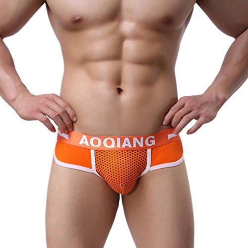Calzoncillos para hombre, Amlaiworld Ropa interior de algodón naranja