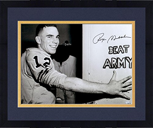 """Framed Roger Staubach Navy Midshipmen Autographed 16"""" x 20"""" Beat Army Photograph - Fanatics Authentic Certified from Sports Memorabilia"""
