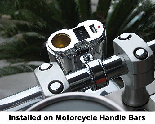 EKLIPES EK1-110 Chrome Cobra Ultimate Motorcycle USB Charging System