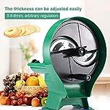 Rbaysale Multi-function Manual Fruit Vegetable Slicer Adjustable Thickness (0.8-8 mm) Commercial Hand Slicing Cutter