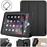 iPad 5th/6th Generation Case, New iPad 9.7 Inch 2017/2018 Case Smart Magnetic Auto Sleep/Wake Cover Hybrid Leather with Stand Feature for Apple New iPad 2017 Release Model (Black/Black)