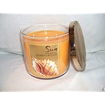 Bath & Body Works ---- SUN SOAKED SANDALWOOD ---- 3 wick scented candle