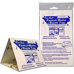 Pro Pest Pantry Moth & Beetle Traps 2 Pre-Baited Traps