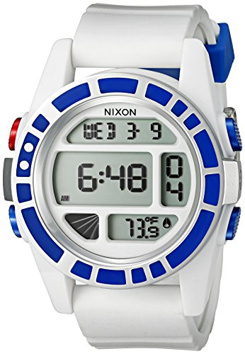 Nixon Men's 'Unit SW, R2D2' Japanese Automatic Rubber and Silicone Casual Watch, Color:White (Model: A197SW-2379-00)