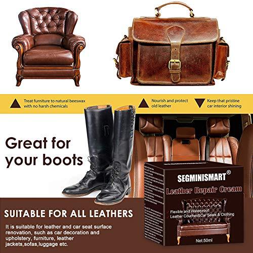 SEGMINISMART Crème Réparatrice Cuir,Kit Rénovation Cuir,Pâte Réparatrice Cuir,Adapté for Le Cuir Lisse/Chaussures/Sacs… 3
