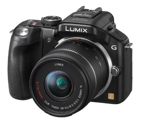 Panasonic Lumix DMC-G5KEG-K Systemkamera (16 Megapixel, 7,6 cm (3 Zoll) Touchscreen, Full-HD Video, bildstabilisiert) schwarz inkl. Lumix G Vario 14-42mm Objektiv