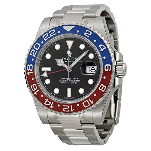Rolex GMT-Master II White Gold Pepsi Red & Blue Ceramic Unworn 116719 Watch