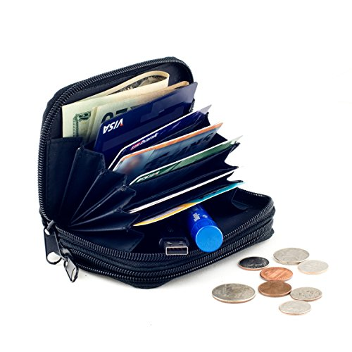 Goson Womens Leather Mini Wallet Credit Cards Cash Coin Holder