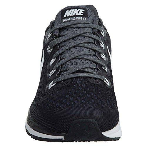 Nike Air Zoom Pegasus 34 Mens Scarpe Da Corsa Nero / Bianco-grigio Scuro
