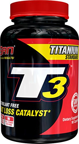 SAN Nutrition T3 Fat Burner with No Stimulants for Safe and Natural Thyroid Support from Guggulsterones to Increase Metabolism and Weight Loss, 90-Count