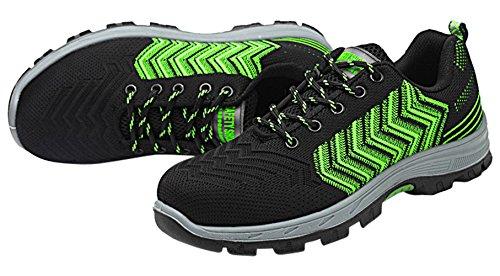 Green01 Athletic Work Sneakers Footwear for Toe Shoes Safety Industrial Steel RU Men 8qzCxv