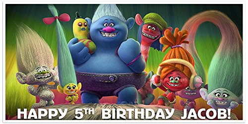 Trolls Birthday Banner Personalized