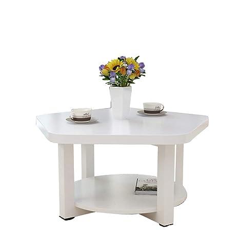 mesa de café en la sala de estar Anuey Creativa De Madera Doble Pequea Mesa De Caf Sala De
