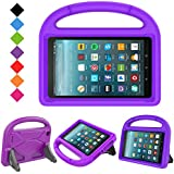 BMOUO Case for All New F i r e 7 2017 - Light Weight Shock Proof Handle Kid –Proof Cover Kids Case for All New F i r e 7 Tablet, Purple