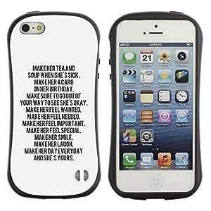 LASTONE PHONE CASE / Suave Silicona Caso Carcasa de Caucho Funda para Apple Iphone 5 / 5S / text letter motivational inspiring quote