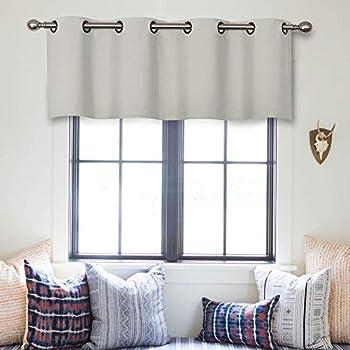 Amazon Com Mrtrees Valance Curtains Greyish White 16