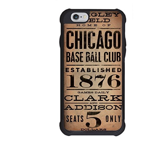 Vintage Wrigley Field Base Ball Club Tickets Phone Case Design For iPhone 4 / 4s, 5 / 5s, 5c, 6 / 6s or 6 Plus / 6s Plus 7/7s Galaxy S4, S5, (Ticket Base)