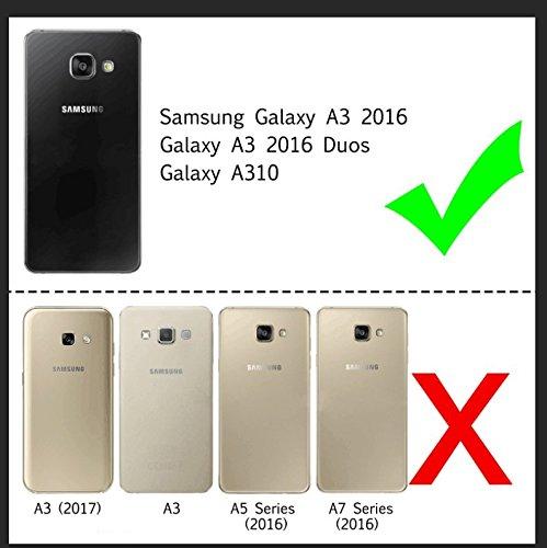 LeYi Funda Samsung Galaxy A3 2016 Silicona Purpurina Carcasa con HD Protectores de Pantalla,Transparente Cristal Bumper Telefono Gel TPU Fundas Case cover ...