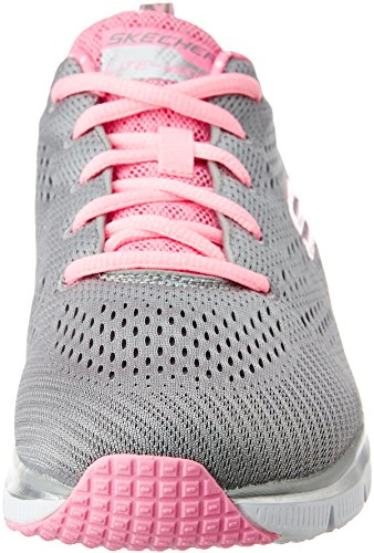 Fashion Donna Skechers Moda Rosa alla Sneaker Grigio Statement Piece Fit 6xwwqp0Td