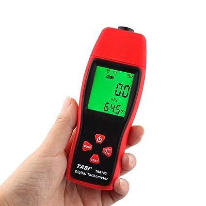 TA8143 Tacómetro digital láser fotoelectricidad tacómetro medidor fotoeléctrico óptico 2.5~99999 RPM Velocímetro sin contacto