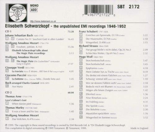 Elisabeth Schwarzkopf: The Unpublished EMI Recordings, 1946-1952 by Testament UK
