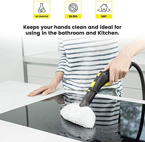 Isincer 10 Pack Microfiber 5 Cover set + 5 Large Floor Mop cover for Kärcher Steam Cleaner EasyFix SC2, SC3,SC4,SC5, SC1 Handheld, SC2, SC3