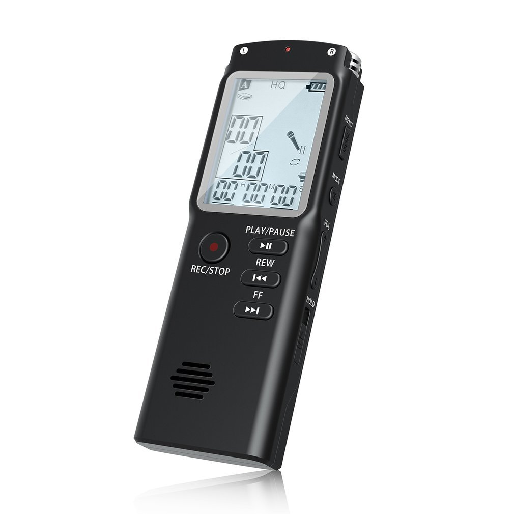 Voice Recorder, OUTAD 8GB Digital Audio Sound Recorder Auto-saving Voice Activated Dictaphone HD Recording with Dual Microphone Noise Reduction for Lectures/Meeting/Conversation/Interviews/Studio
