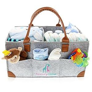 Baby Diaper Caddy Organizer – Extra Large Storage...