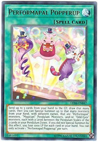 NM//M Unlimited 6X Performapal Popperup Yu-Gi-Oh! Rare LED6-EN047