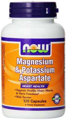 NOW Foods magnésium et de potassium aspartate par taurine, 120 capsules
