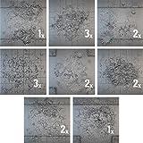 Miniatures Terrain Secret Weapon Miniatures Tablescape Tiles - Urban Streets, Damaged (16)