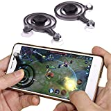 Mobile Game Joystick Phone Game Rocker Touch Screen Joypad Tablet Funny Game Controller For Phone or Pad (left+right)