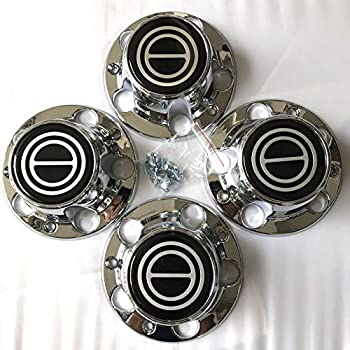 1980-1996 FORD F150 BRONCO VAN Chrome Wheel Hub Center Caps BLACK Center 4 PCS