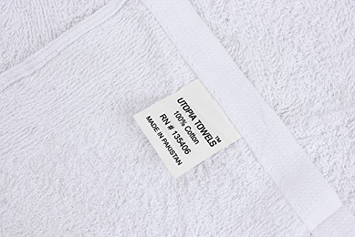 Utopia Towels 12 Pack Kitchen Bar Mop Towels 16 x 19 inches, White Bar Towels and Cleaning Towels by Utopia Towels (Image #4)