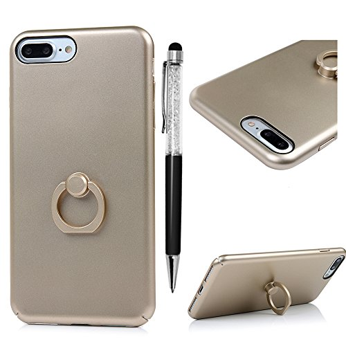 Solo 360 Mens Suits (iPhone 7 Plus Case, MOLLYCOOCLE [Ring Holder Kickstand] Bumper Case Shock-Absorption and Anti-Scratch, Fingerprints & Oil Stains,Protective & Stylish,Ultra Slim Back for iPhone 7 Plus, Gold)