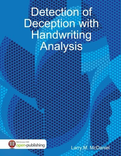 Detection of Deception With Handwriting Analysis by Larry Mcdaniel (2016-03-18) by lulu.com