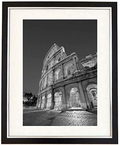 The colosseum framed black white print of the colosseum and ancient rome