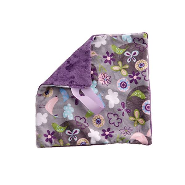 Newborn Infant Baby Toddler Lavender Fly Away Silver Soft Fabric Pacifier Security Blanket