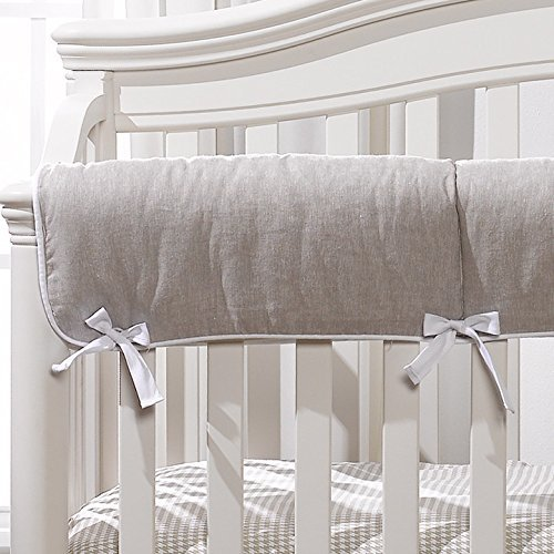 Liz and Roo Flax Linen Crib Rail Cover