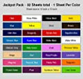 JACKPOT like starter pack vinyl 651 - 32 COLORS. Viynal fabric viynal sheets for vinyl cutter and press package. Not 651 oracle vinyl 651 vinyl silver. Adhesive vinyl sheets for vynil decal printer.