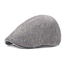 King Star Men's Linen Duckbill Ivy Newsboy Hat Scally Flat Cap