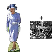 *COMMEMORATIVE PACK* - QUEEN ELIZABETH II - LIFESIZE CARDBOARD CUTOUT (STANDEE / STANDUP) (DIAMOND JUBILEE 2012) - INCLUDES 8X10 (25X20CM) STAR PHOTO - FAN PACK #219