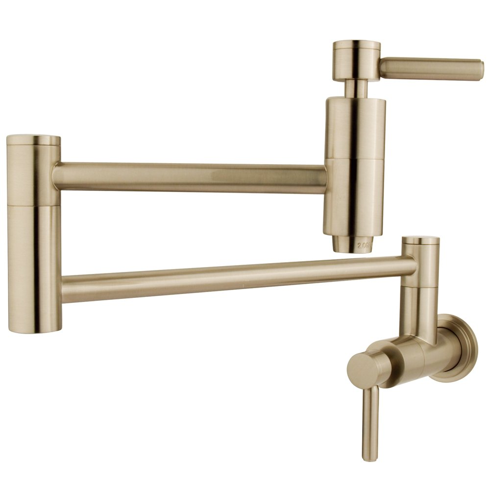 Elements of Design ES8108DL South Beach Wall Mount Pot Filler, 13'', Brushed Nickel