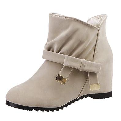Zapatos de Tacón Tacon Medio Planos,Botines de Nieve Mujer otoño Invierno Plataforma Casual Planas Zapatos Ankle Boots Negro Beige 35-40 Btruely Herren: ...