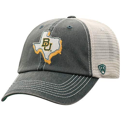 Baylor University - Top of the World Baylor Bears Men's Mesh-Back Hat Icon, Green, Adjustable