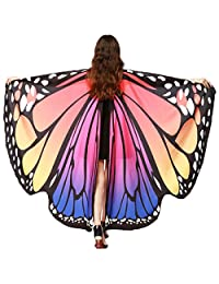 Halloween Ladies Fairy Nymph Elf Soft Fabric Butterfly Wings Costume Accessory