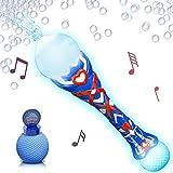 """Mini Tragbare Musik Bubble Machine 13,5 """"Seifenblasen Maschine für Kinder, Kinder Garten Spielzeug Outdoor Toys, Ideal für Party"""